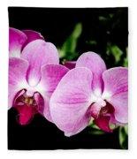 Lavender Orchids  Fleece Blanket
