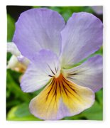 Lavender Pansy Fleece Blanket