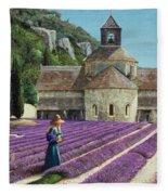 Lavender Picker - Abbaye Senanque - Provence Fleece Blanket