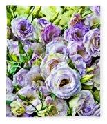 Lavender Ranunculus  Fleece Blanket