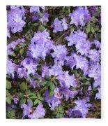 Lavender Rhododendrons Fleece Blanket