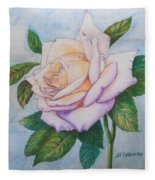 Lavender Rose Fleece Blanket