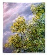 Lavender Skies Fleece Blanket