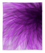 Lavender Spiral Fleece Blanket