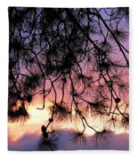 Lavender Sunset Fleece Blanket