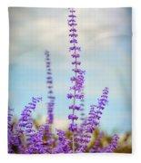 Lavender To The Sky Fleece Blanket