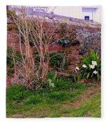 Lavender Wall In England Fleece Blanket