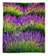 Lavenderous Harmony Fleece Blanket