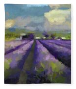 Lavenders Of South Fleece Blanket