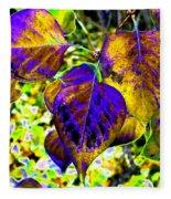 Lavish Leaves 3 Fleece Blanket