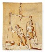 Lavoisiers Respiration Experiments Fleece Blanket