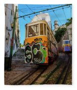 Lavra Funicular, Lisbon, Portugal Fleece Blanket