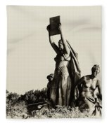 Law Prosperity And Power In Black And White Fleece Blanket