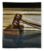 Lawyer - The Judge's Gavel Fleece Blanket