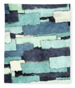 Layers Of Colors Pattern Fleece Blanket
