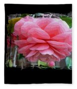 Layers Of Pink Camellia Dream Fleece Blanket