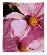 Layers Of Pink Cosmos - Digital Art Fleece Blanket