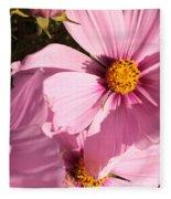 Layers Of Pink Cosmos Fleece Blanket
