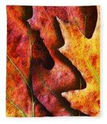 Layers Of Shades Of Autumn Fleece Blanket