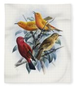 Laysan Honeycreeper Fleece Blanket