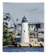 Lazaretto Point Lighthouse Fleece Blanket