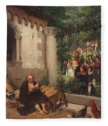 Lazarus And The Rich Man 1865 Fleece Blanket