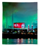 Laser Green Smoke And Reds Stadium Fleece Blanket