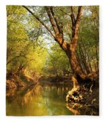 Lazy Afternoon On The Creek 2 Fleece Blanket