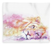 Lazy Days - Lion Fleece Blanket