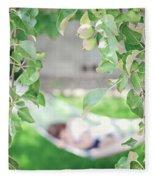 Lazy Days Of Summer Fleece Blanket