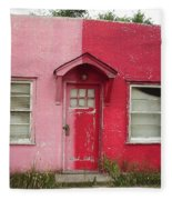Lazy U Motel - Pink And Red Fleece Blanket