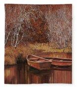 Le Barche Sullo Stagno Fleece Blanket