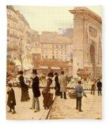 Le Boulevard St Denis - Paris Fleece Blanket