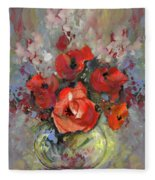 Le Bouquet De Valentine Fleece Blanket