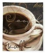 Le Cafe Dark Fleece Blanket