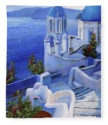 Le Chiese Blu Fleece Blanket