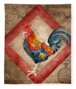 Le Coq - Timeless Rooster  Fleece Blanket