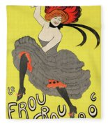 Le Frou Frou Vintage Poster By Leonetto Cappiello, 1899 Fleece Blanket