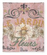 Le Jardin 1 Fleece Blanket