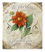 Le Jardin Dahlias Fleece Blanket