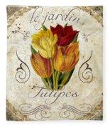 Le Jardin Tulipes Fleece Blanket