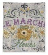 Le Marche Aux Fleurs 1 Fleece Blanket