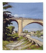 Le Pont Canal A Briare Fleece Blanket