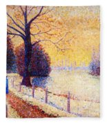 Le Puy In The Snow 1889 Fleece Blanket