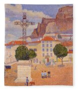Le Puy The Sunny Plaza 1890 Fleece Blanket