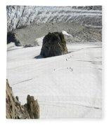 Le Rognon Glacier D'argentiere Vue Depuis L'aiguille Des Grands Montets Argentiere Haute Savoie Fleece Blanket