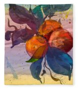 Le Temps Des Oranges Fleece Blanket