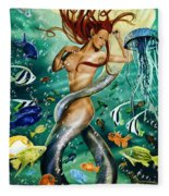 Lea The Mermaid Fleece Blanket