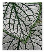 Leaf Abstract 19 Fleece Blanket