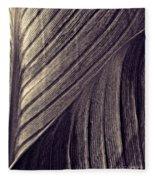 Leaf Abstract  24  Sepia   Fleece Blanket